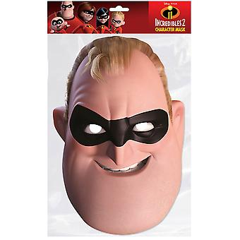 Mr Incredible Incredibles 2 Single 2D Card Party Fancy Dress Mask