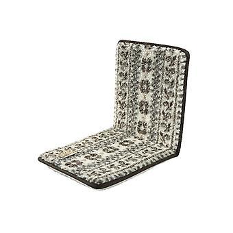 Doppelstuhlkissen Sitzkissen mit Lehne beige-braun 80 x 37 cm Schurwolle