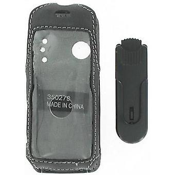 Caso de couro de clipe giratório para Sony Ericsson W200a