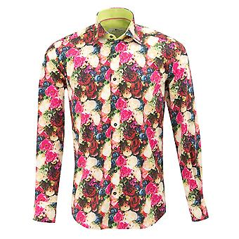 Claudio Lugli Rose Bloom imprimir Mens camisa