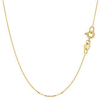 14 k Gelb Gold Kabel Link Kette Halskette, 0,6 mm