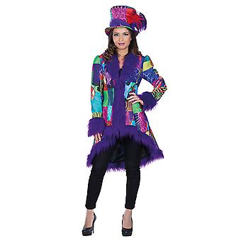 Costume multi patch cappotto peluche donne carnevale Mardi
