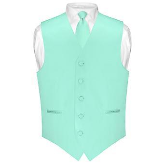 """Männer Kleid Weste & Skinny Krawatte einfarbig 2,5"""" Hals Krawatte Set für Anzug oder Smoking"""
