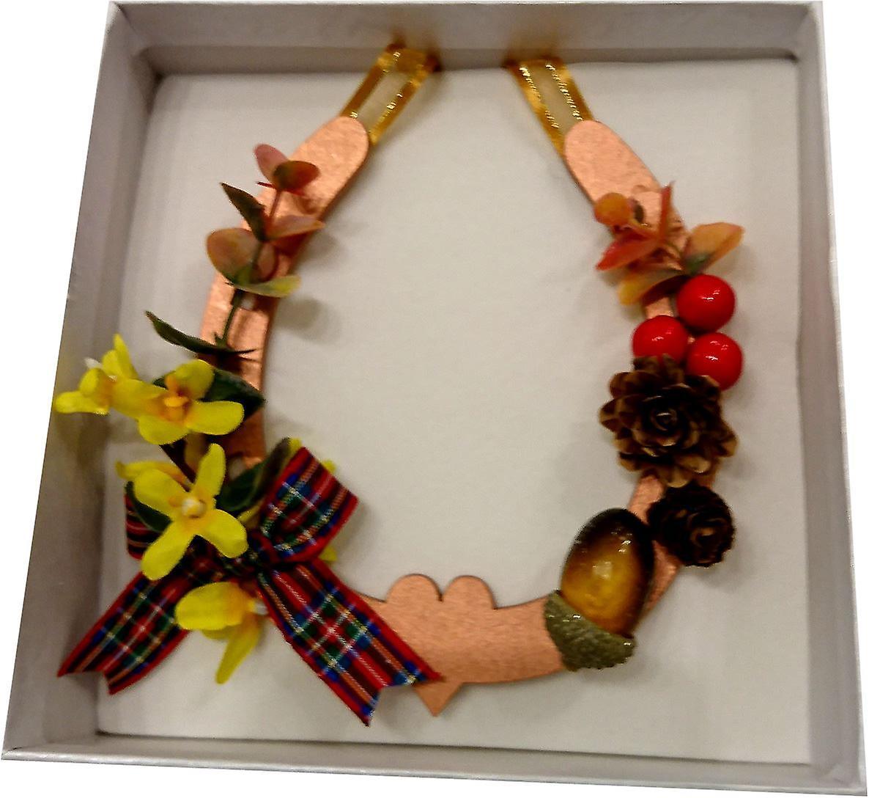 Sweet Pea Designs Autumn Copper Horseshoe Forzythia