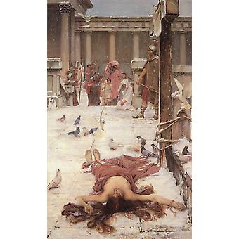 St. Eulalia, John William Waterhouse, 40x60cm with tray