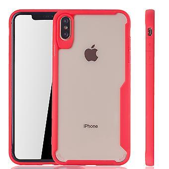 Punainen agio Omena iPhone tapauksessa XS Max hybrid Edition | Tukee Langaton lataaminen | hieno akryyli pehmeä silikoni rengas punainen