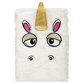 Npw Unicorn White Furry Notebook