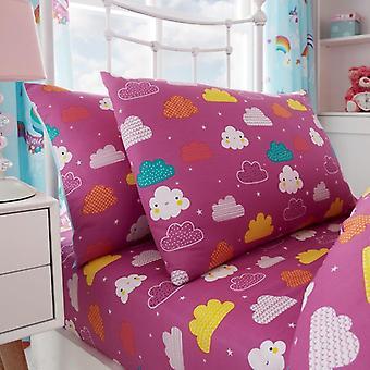 Unicorn Fairytale meisjes Kids enkel dekbed Quilt Cover kinderen beddengoed Set