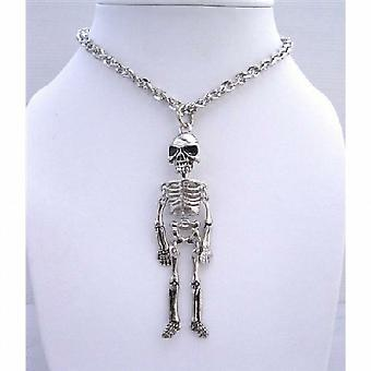 Esqueleto do corpo pingente colar Halloween Halloween de joias colar