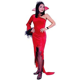 Rode gravin volwassen kostuum
