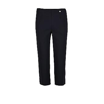 Robell Marie Cropped Trouser in Navy
