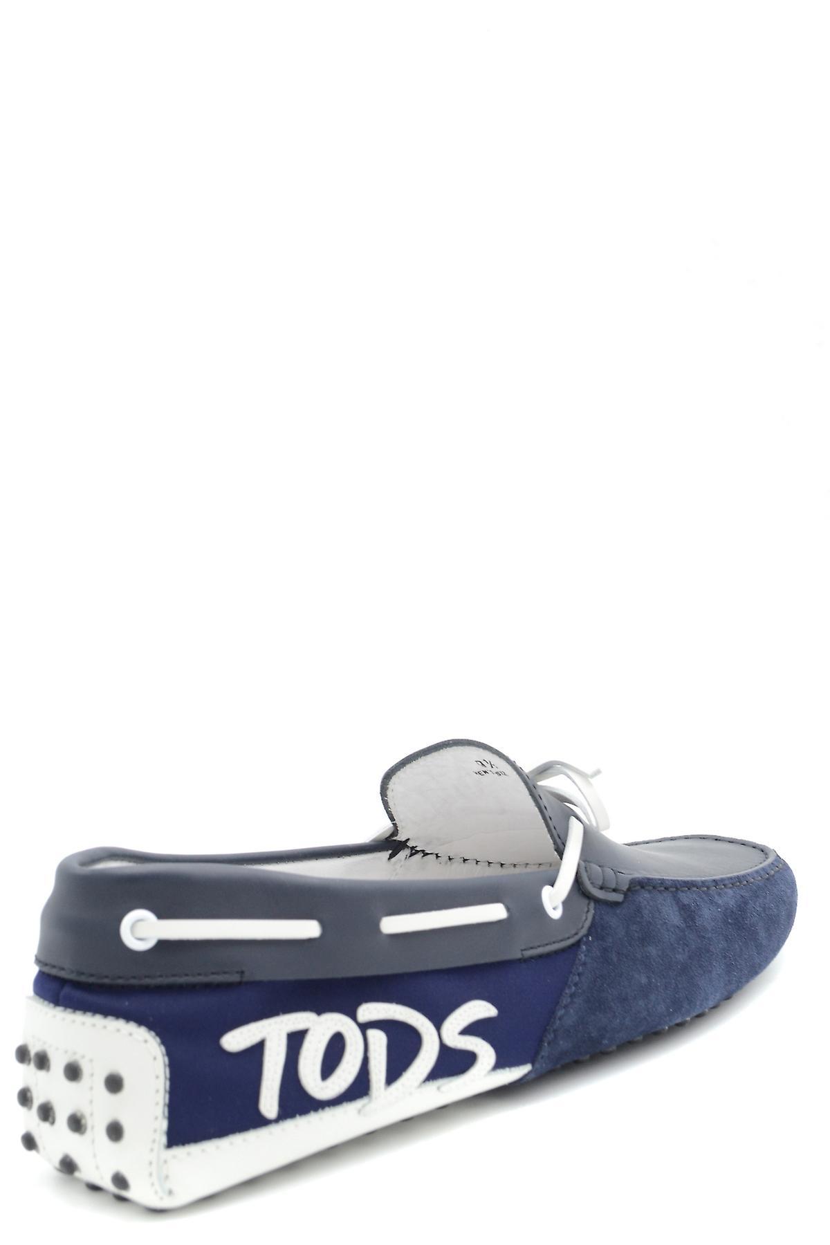 Tod's Ezbc025017 Men's Blue Suede Loafers - Gratis verzending wxpdtW