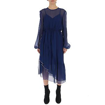 See By Chloé Chs19sro14030403 Women's Blue Silk Dress