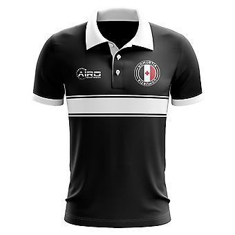 Udmurtien Konzept Stripe Polo-Shirt (schwarz)