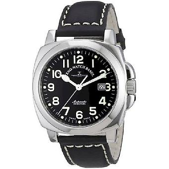 Zeno-watch Herre ur firkantet pilot automatisk 3554-a1
