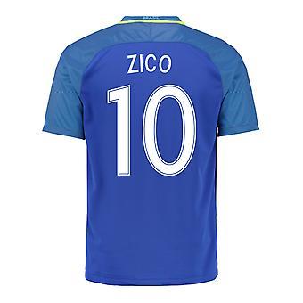 2016-17 Brazil Away Shirt (Zico 10) - Kids