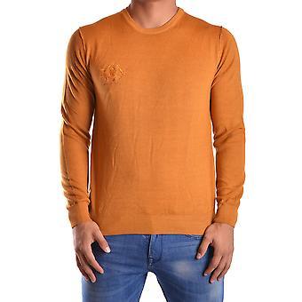Etiqueta Negra Ezbc183020 Men's Yellow Wool Sweater