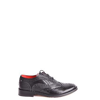 Base London Ezbc207007 Men's Black Leather Lace-up Shoes