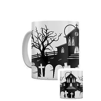 Grindstore Necropolis Church Silhouette Mug