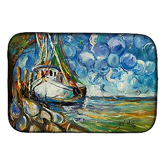 Carolines Treasures  JMK1080DDM Shrimp Boat  101 Dish Drying Mat
