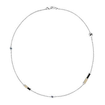Purdue University Sapphire Chain Necklace In Sterling Silver Design by BIXLER