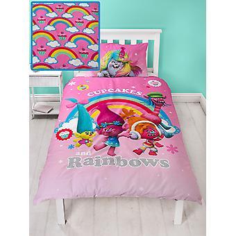 Trolle Träume einzelne Bettbezug und Kissenbezug Set