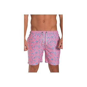 Franks Swim Shorts Franks Mid Length Swim Shorts Miami Pink
