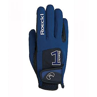 Roeckl Mansfield Adults Riding Glove - Navy Blue