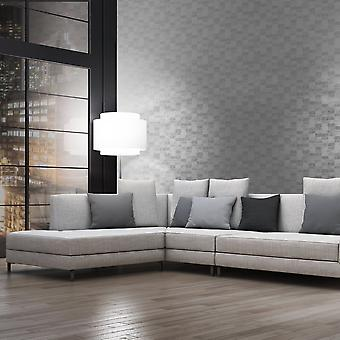 A.S. Creation AS Creation Square Pattern Wallpaper Textured Modern Metallic Motif 305271