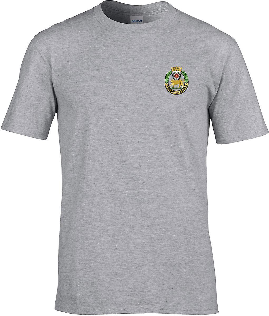 York And Lancaster Regiment - Licensed British Army Embroidered Premium T-Shirt