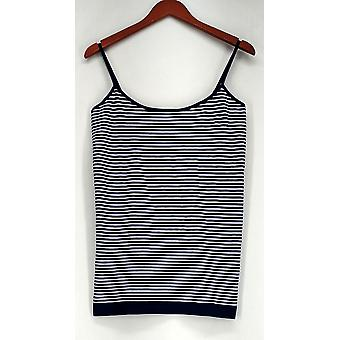 Attention L/XL Striped Camisole w/ Adjustable Straps Blue Top Womens #0