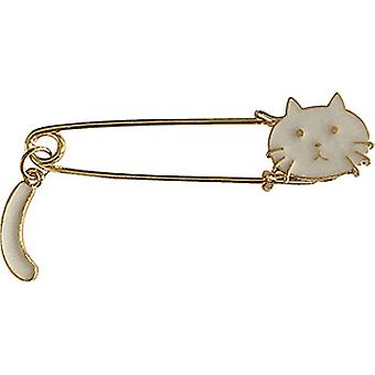 Pin - C&D - Cats White Cat with Tail New Gifts lap-0056
