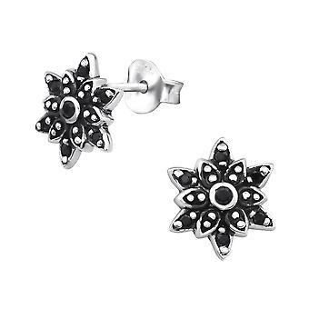 Bali blomster - 925 Sterling sølv Cubic Zirconia øret knopper - W30081x