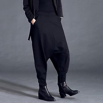 Pockets Patchwork Casual Full Length  Pants
