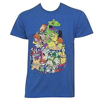 Nicktoons Blue Characters Tee Shirt