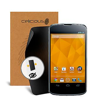 Celicious Privacy 2-Wege Anti-Spy Filter Screen Protector Film kompatibel mit Google Nexus 4