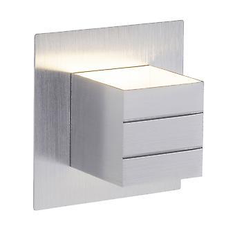 BRILJANTE lamp vaste LED-wand lamp schakelaar Alu I met tuimelschakelaar I energiebesparend en duurzaam door LED-gebruik