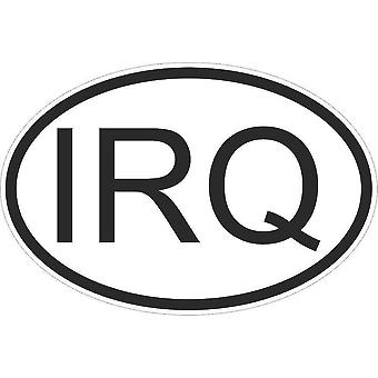 Sticker Sticker Sticker Sticker Flag Oval Code Country Motorcycle Iraq Iraqi Irq