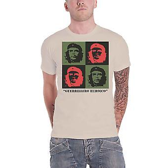 Che Guevara T Shirt Blocks Portrait Cuban Revolution new Official Mens Sand
