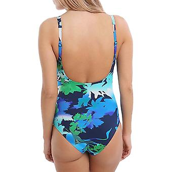 arena Womens Doris One Piece U Back Training Swimming Swimsuit Costume - Navy