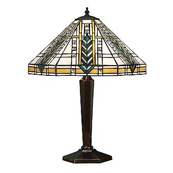 Lloyd Medium Tiffany stil antikk Patina bordlampe - interiør 1900 64239