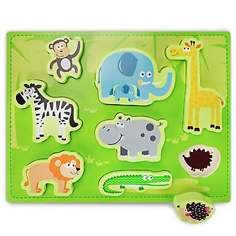 Chunky Exotic Safari Puzzle Board