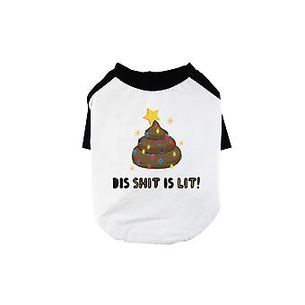 Dis Shit Is Lit Poop Cute BKWT Pets Baseball Shirt X-mas Present