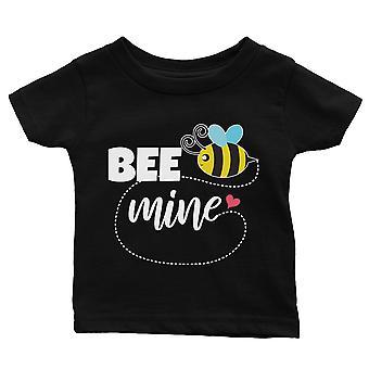 Bee Mine Black Baby T-Shirt Cute Infant Tee Baby Girl Birthday Gift