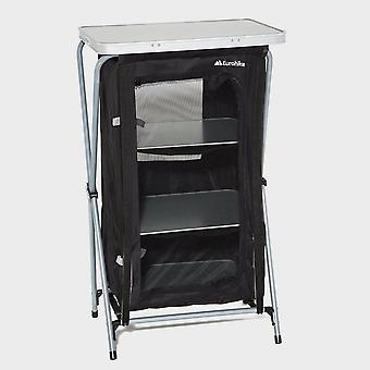 Nuovo Eurohike Camping Furniture Storage 4 Scaffale Collapsible Cupboard Nero
