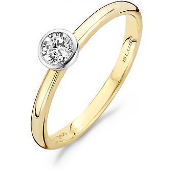 Ring Blush 11249BZI - Ring white and yellow gold 2 mm Zirconium oxide 5 mm Women