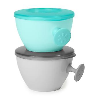 Skip Hop Easy Grab Bowls Grey Soft Teal
