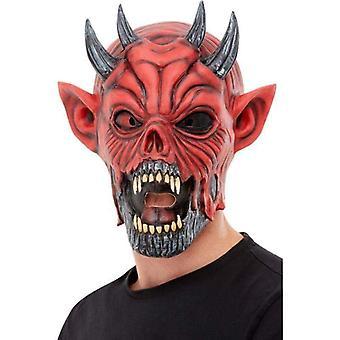 Djævel latex maske voksen rød