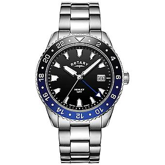 Rotary Men's Henley | Stainless Steel Bracelet | Two-Tone Bezel | GB05108/63 Watch