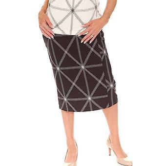 EUGEN KLEIN Eugen Klein Navy Print Skirt 4048 01408